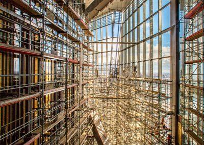 EZB Bauaufzugtechnik im Innern des Gebäude